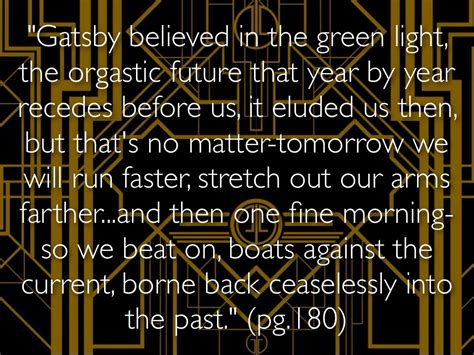 Gatsby Believed In The Green Light by Tgg By Hill