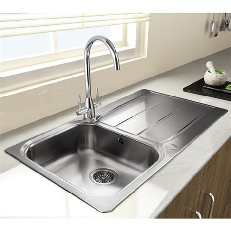 rangemaster glendale  bowl brushed stainless steel sink