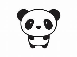 Cute Baby Panda Drawings Baby Panda Custom Vinyl Decal ...