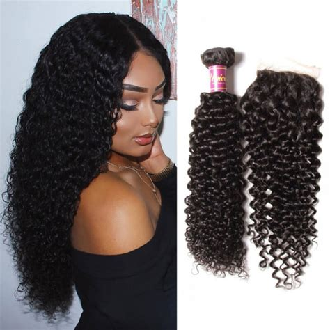 how to style extensions human hair unice 4 bundles curly hair with lace