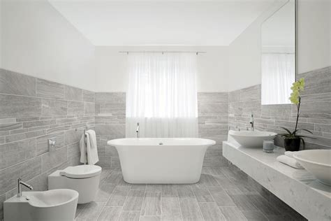 bathroom ideas decor porcelain tile with mixed look of wood and concrete