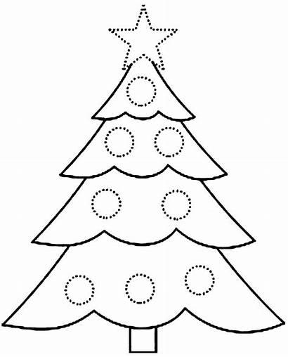 Christmas Coloring Printable Pages Tree Ornaments Xmas