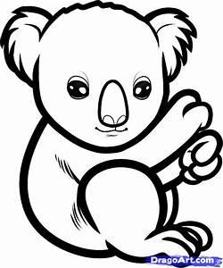 How to Draw a Baby Koala, Baby Koala, Step by Step ...