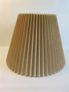 vintage pleated stiffel lshade natural linen