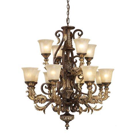 ceiling mount chandelier titan lighting regency 12 light burnt bronze ceiling mount