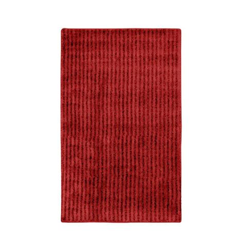 garland rug sheridan chili pepper red      washable bathroom accent rug