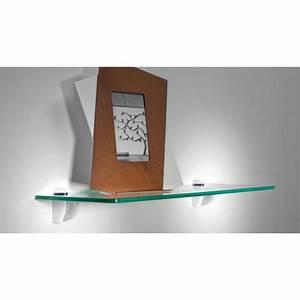 Support Verre Suspendu : les tablettes murales en verre tremp ligne lin a ~ Teatrodelosmanantiales.com Idées de Décoration