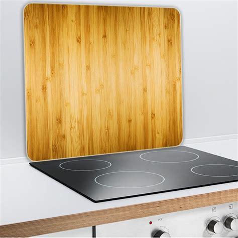 plaque protection cuisine murale protection murale en verre bois protection plaques de