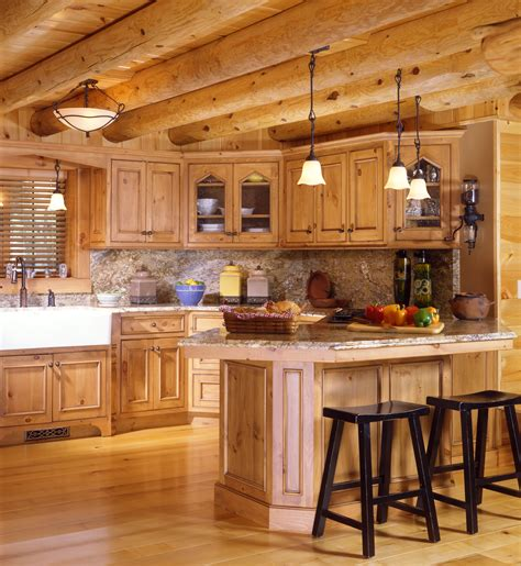 Kitchen Paneling Ideas - cabin kitchens real log style