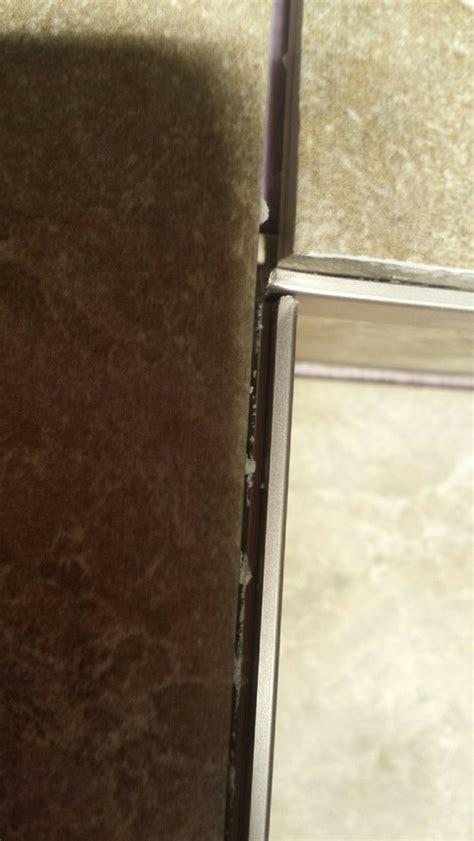 Cutting Schluter Tile Edging by Schluter Trim For Shower Niche Corners