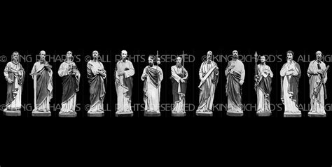 Twelve-Apostles - New Hand Carved Marble or Wood Statue