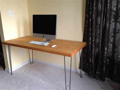 how to make your own desk make your own desk at any height using hairpin table legs
