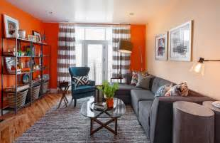 Orange Livingroom Fall Into Orange Living Room Accents For All Styles