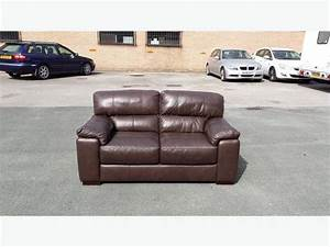 new italian violino brown leather 2 seater sofa outside With violino leather sectional sofa