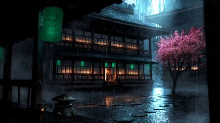 wallpaper engine anime backyard rain preview cg rain
