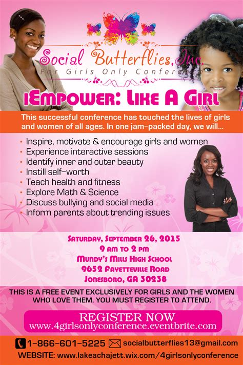 girls  conference social butterflies youth