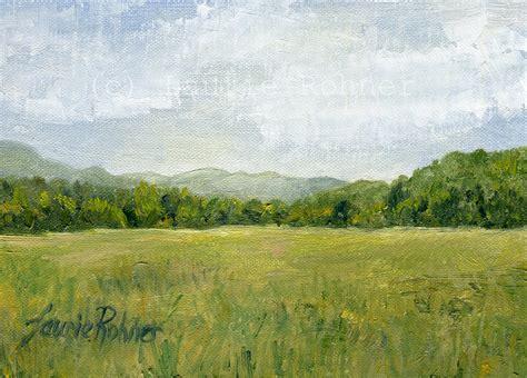 Oil ORIGINAL Painting Landscape Vermont Fields Pasture ...