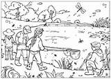 Coloring Pages Pond Habitat Animal Zoo Printable Activityvillage sketch template