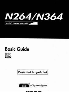 Korg N264  N364 Basic Guide Owners Manual