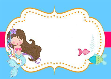 mermaid  printable invitation templates