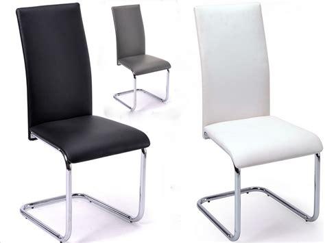 housse de chaise moderne chaise moderne chromé solar lot de 4 couleur noir lestendances fr