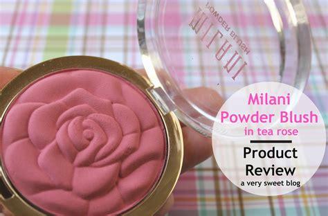 milani tea rose powder blush review sweet blog