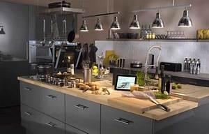 bien concevoir son ilot de cuisine leroy merlin With good meuble ilot central cuisine 3 idee couleur cuisine la cuisine rouge et grise