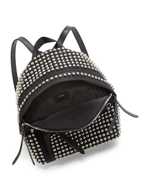 fendi studded bag bugs backpack  black lyst