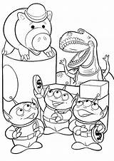 Toy Story Coloring Pages Coloriage Rex Disney Hamm Aliens Dessin Colorier Woody Printable Simple 塗り絵 Characters Pixar Coloriages トイ ストーリー sketch template