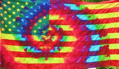 Flag American Dye Tie Trippy Hippie Quotes
