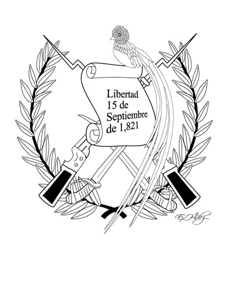 dibujos de los simbolos patrios miblogchapins blog