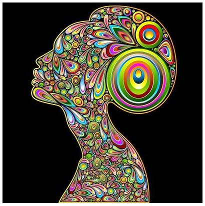 Psychedelic Woman Portrait Clipart African Vector Contemporary