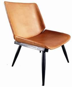 Fauteuil Vintage Scandinave : fauteuil scandinave vintage en cuir et bois 1950 ~ Dode.kayakingforconservation.com Idées de Décoration