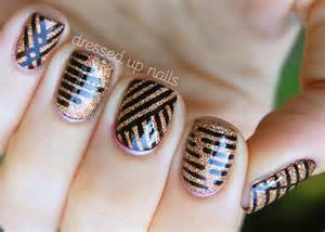 Nail art design ideas for girls with black geometric pattern
