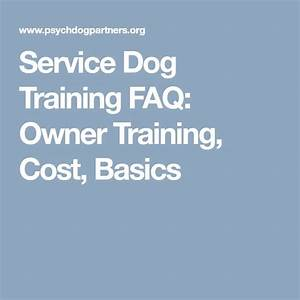 best 25 service dog training ideas on pinterest With dog training cost