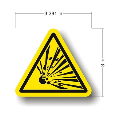 Safety Labels by Industrial Safety Decal Sticker Caution Explosive