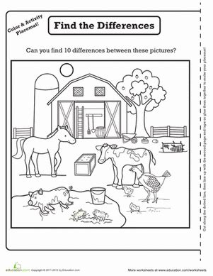 farm activity placemat animals farm activities farm 919 | 84a96afa8091683f47927e3759de59f4