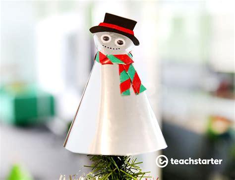 paper tree topper template snowman teach starter