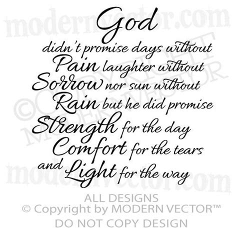 god strength comfort quote vinyl wall decal