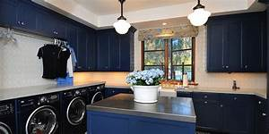 blue cabinets traditional laundry room berkley vallone With kitchen colors with white cabinets with forth rail bridge wall art