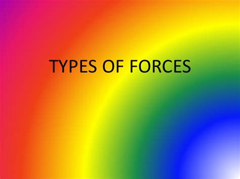 types of types of forces