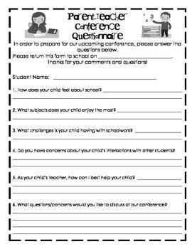 questionnaire for parent conferences by zanah 954 | original 483974 1