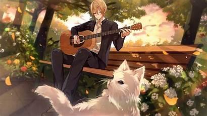 Anime Boy Guitar Playing 4k Wallpapers