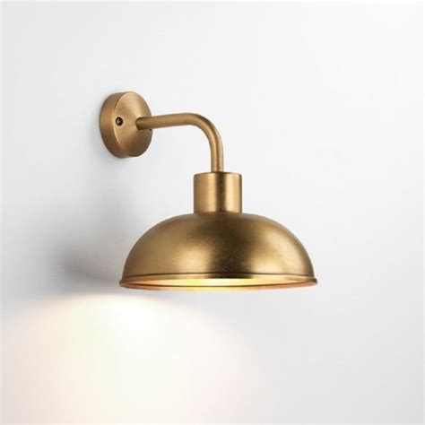 solid brass outdoor wall light designed for exposed locations