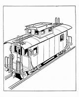 Train Coloring Caboose Drawing Trains Railroad Freight Toy Printable Clipart Cliparts Sketch Sheets Bnsf Diesel Colouring Teach Template Getdrawings Library sketch template