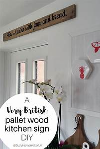 diy kitchen sign made from scrap wood suzy h at With kitchen cabinets lowes with will you be my bridesmaid stickers