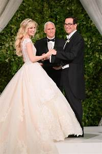 Vp pence officiates treasury secretary steven mnuchin39s for Louise linton wedding dress