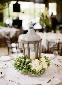 Lantern Wedding Centerpiece with Flowers