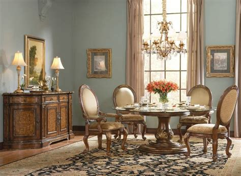 round formal dining table set hooker furniture beladora 72 quot round glass top table set