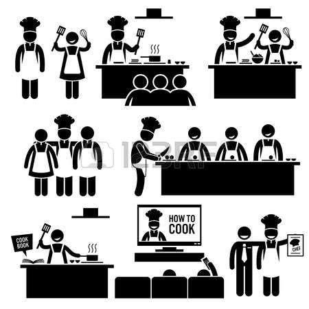 cuisiner des figues pictogramme cours de cuisine cuisiner chef stick figure pictogrammes icônes picto enfant
